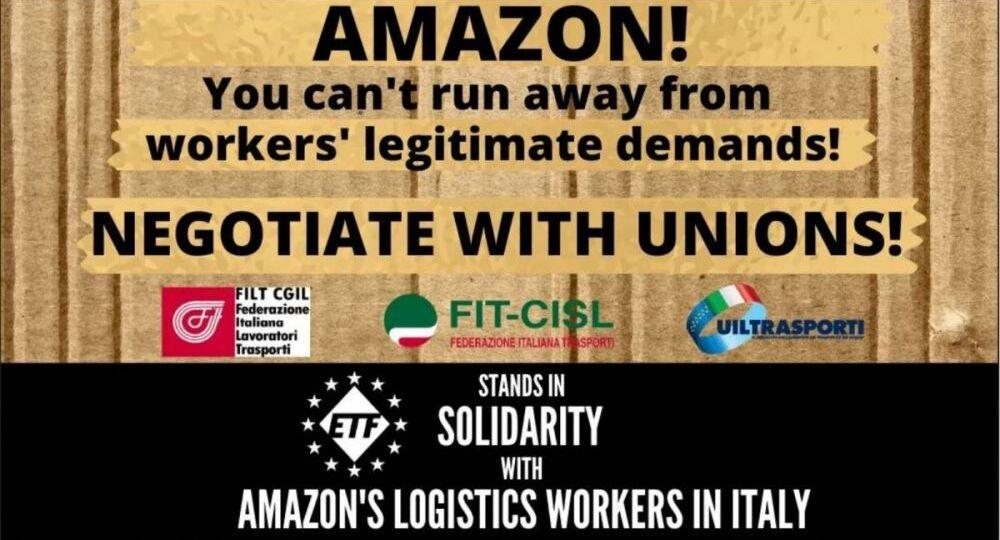 amazon workers italy